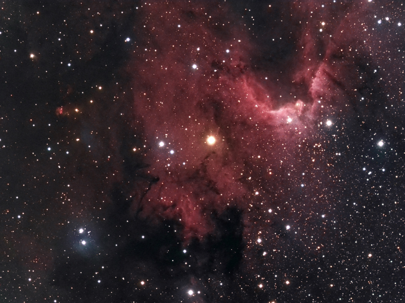 Sharpless 2-155, Caldwell 9, Cave Nebula
