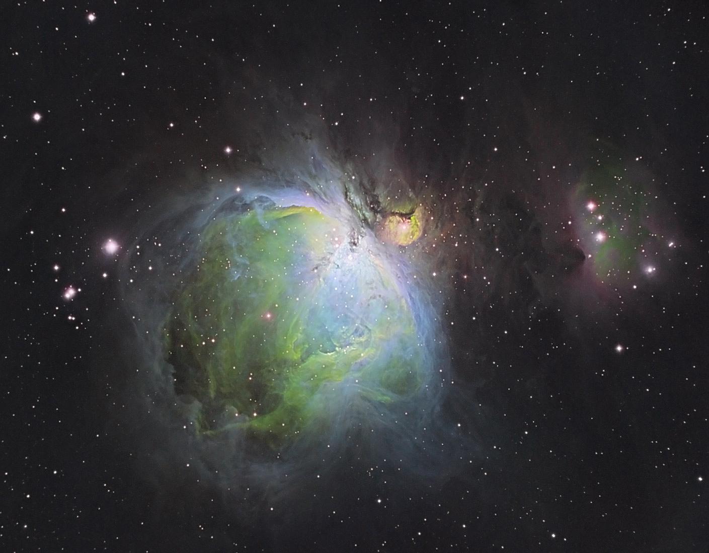 Orion Nebula in false color