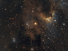 Cave Nebula Hubble Colour